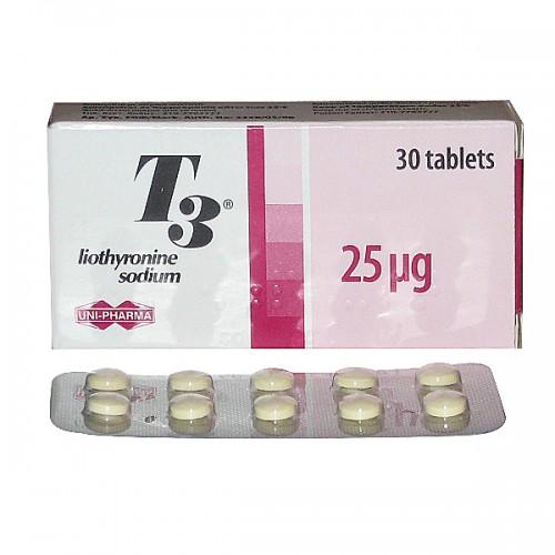 T3 Cytomel (Liothyronine Sodium) - 30 tabs (25mcg/tab)